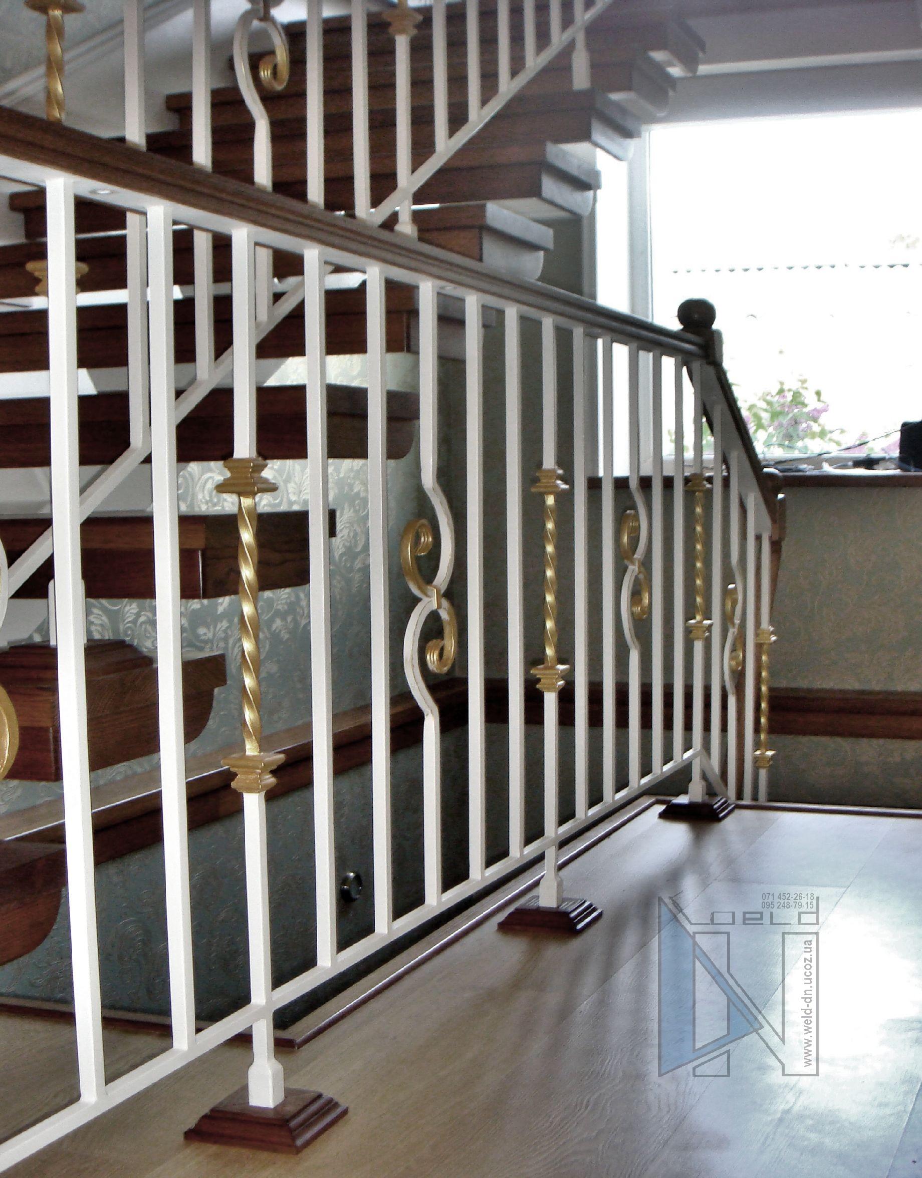 сварка лестниц на второй этаж дома в Донецке с коваными перилами